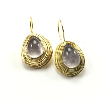Brass Wire Earrings