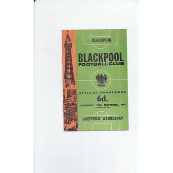 1965/66 Blackpool v Sheffield Wednesday Football Programme