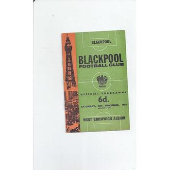 1965/66 Blackpool v West Bromwich Albion Football Programme