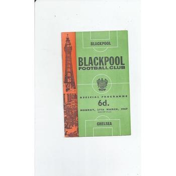 1966/67 Blackpool v Chelsea Football Programme
