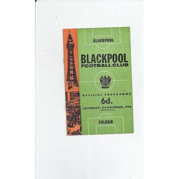 1966/67 Blackpool v Fulham Football Programme