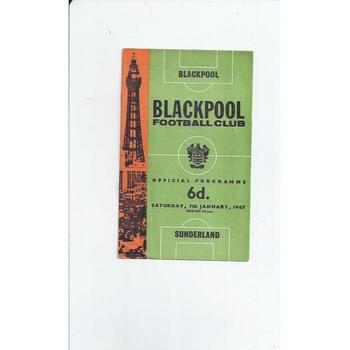 1966/67 Blackpool v Sunderland Football Programme