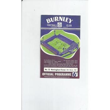 Burnley v Nottingham Forest 1966/67