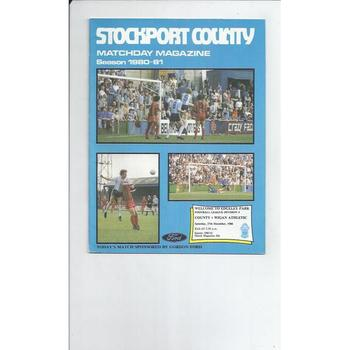 1980/81 Stockport County v Wigan Athletic Football Programme