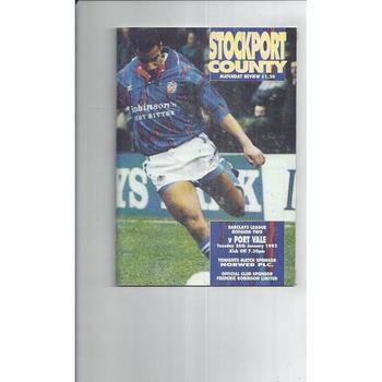 Port Vale Football Programmes