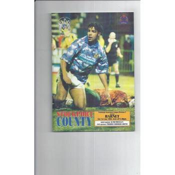 1993/94 Stockport County v Barnet Football Programme