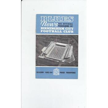 Birmingham City v West Bromwich Albion 1963/64