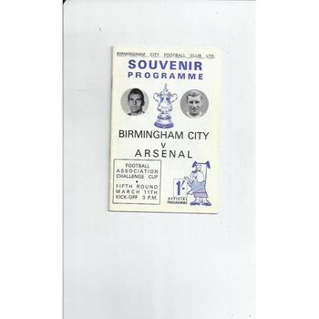 Birmingham City v Arsenal FA Cup 1966/67