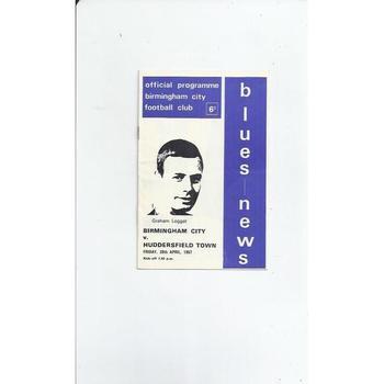 Birmingham City v Huddersfield Town 1966/67
