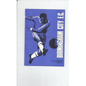 Birmingham City v Queens Park Rangers 1967/68 Football Programme