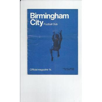 Birmingham City v Carlisle United 1968/69