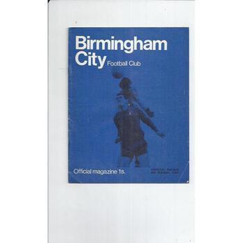 Birmingham City Football Programmes