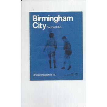 Birmingham City v Hull City 1968/69