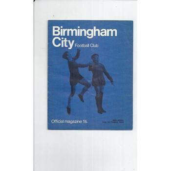 1968/69 Birmingham City v Millwall Football Programme