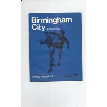 Birmingham City v Sheffield United 1968/69