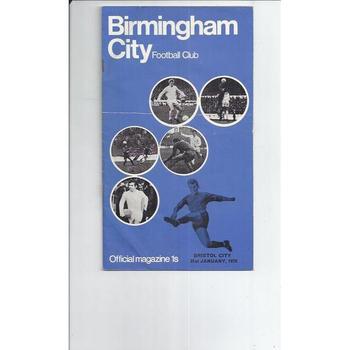 Birmingham City v Bristol City 1969/70