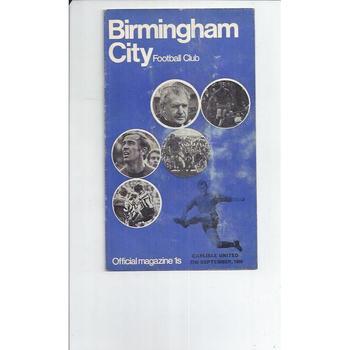 Birmingham City v Carlisle United 1969/70