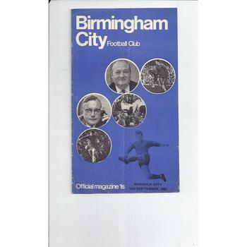 Birmingham City v Norwich City 1969/70