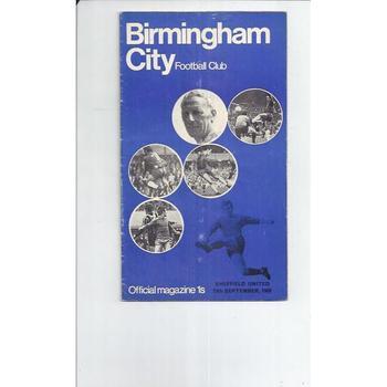Birmingham City v Sheffield United 1969/70