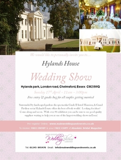 Come along and see us at the Hylands House Wedding Fair on 17th April!