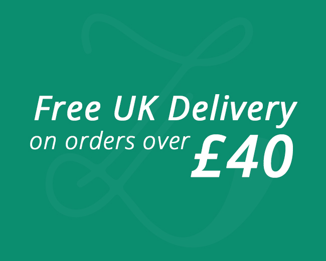 Free UK delivery on orders over £40.