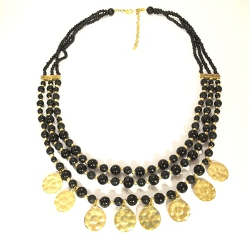 Gold Coin Drop Necklace