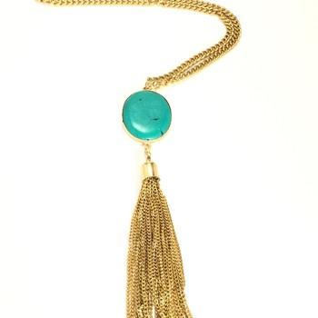 Stone Tassel Necklace