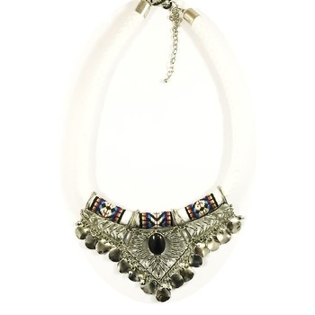 Bohemian Cord Wrap Necklace