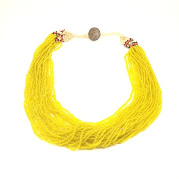 Mustard Boho Necklace