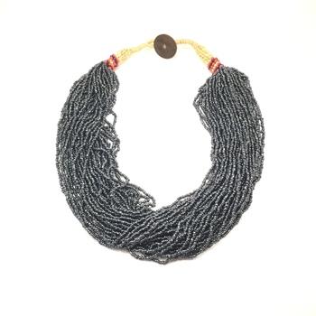 Blue-Grey Boho Necklace