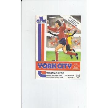 1985/86 York City v Wigan Athletic Football Programme