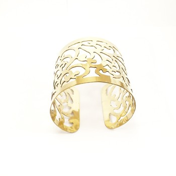 Vine Cut Work Gold Cuff