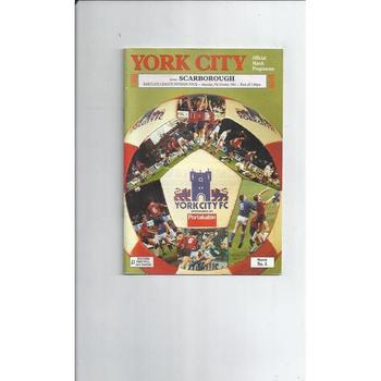 1991/92 York City v Scarborough Football Programme