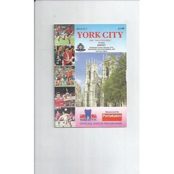 1993/94 York City v Barnet Football Programme