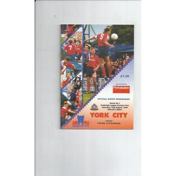 York City Home Football Programmes