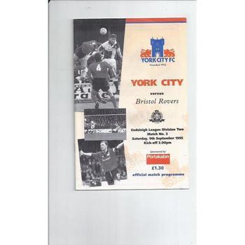 York City Football Programmes