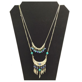Blue Cresent Necklace
