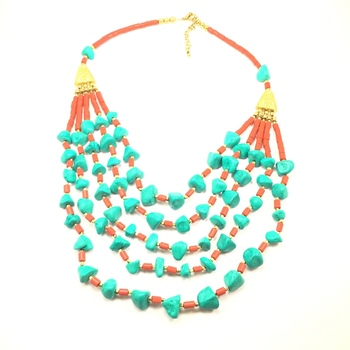 Ethnic Layered Green Necklace