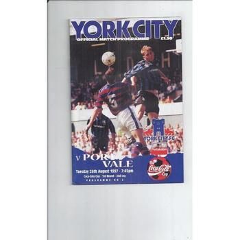 Port Vale Away Football Programmes