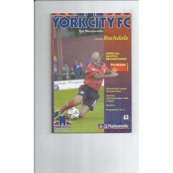 Rochdale Football Programmes