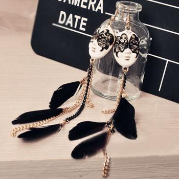 Mask Feather Earrings
