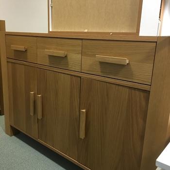 Brown Solid Wood Sideboard