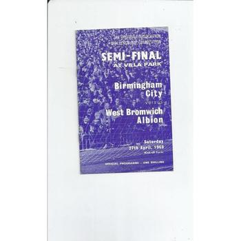 Birmingham City v West Bromwich Albion FA Cup Semi Final 1968 @ Aston Villa