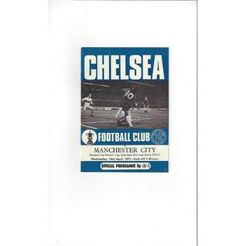 1970/71 Chelsea v Manchester City European Cup Winners Cup Semi Final Football Programme