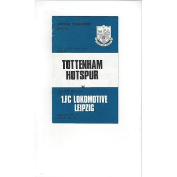 1973/74 Tottenham Hotspur v Lokomotive Leipzig Fairs Cup Semi Final Football Programme