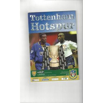1998/99 Tottenham Hotspur v Wimbledon League Cup Semi Final Football Programme