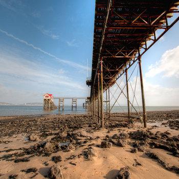 Beneath Mumbles Pier, Swansea.