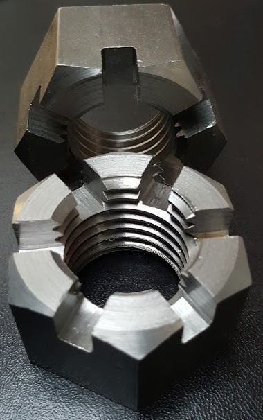 Large Hexagon Slotted Nuts