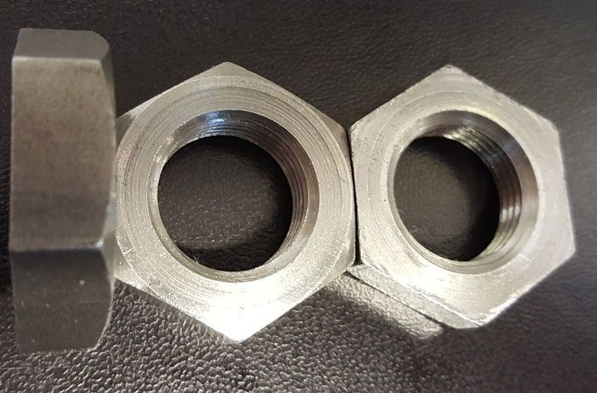Photograph of Single Chamfered Full Bearing Nuts