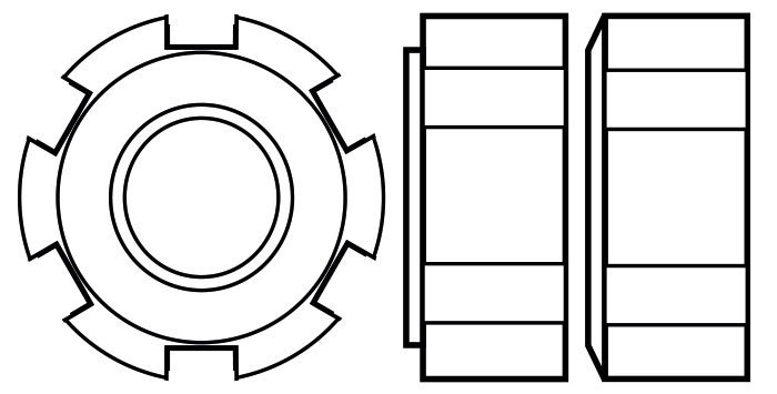 DIN1804 Externally slotted round nuts